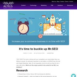It's time to buckle up Mr.SEO - Altius solution