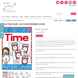 Time Clip Cards: 192 Cards Multiple Levels – Life Over C's