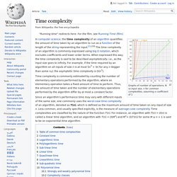 Time complexity - Wikipedia