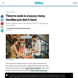 Time to cook is a luxury many families just don't have