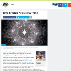 Time Crystals Are Now A Thing