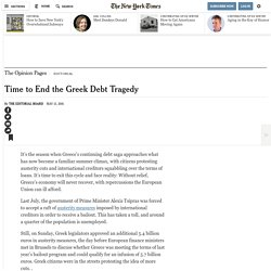 Time to End the Greek Debt Tragedy
