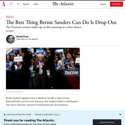 It's Time for Bernie Sanders to Drop Out