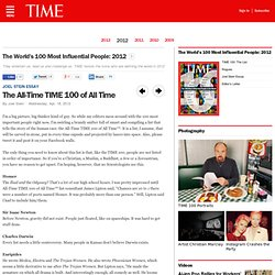 The All-Time TIME 100 of All Time - 2012 TIME 100: The Most Influential People in the World