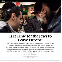 Is It Time for the Jews to Leave Europe?