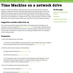 Time Machine on a network drive
