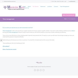 Time management – Maninder Kaur