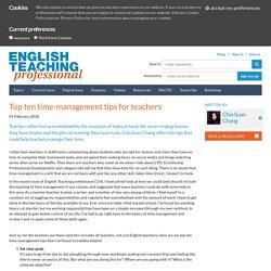 Top ten time-management tips for teachers