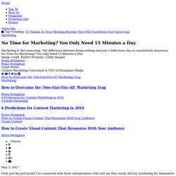 No Time for Marketing? You Only Need 15 Minutes a Day