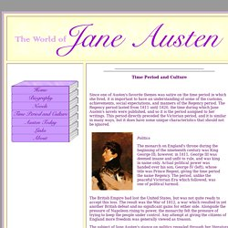 Time Period and Culture of Pride and Prejudice