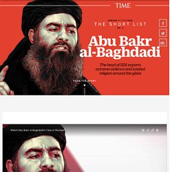 Person of the Year 2015 Runner-Up: Abu Bakr al-Baghdadi