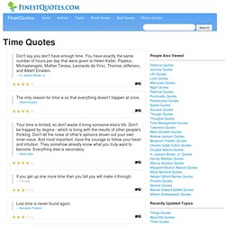 Time Quotes :: Finest Quotes :: Page 2