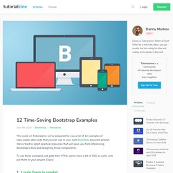 12 Time-Saving Bootstrap Examples