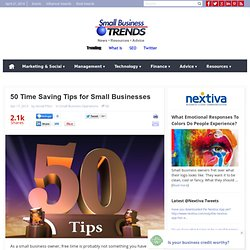 50 Time Saving Tips for Small Businesses