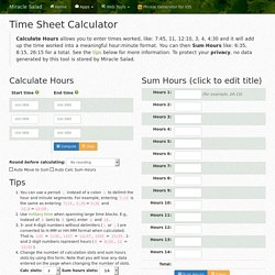 Time Sheet Calculator