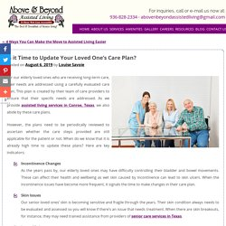 Is it Time to Update Your Loved One's Care Plan?