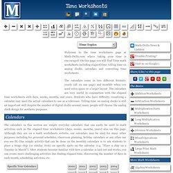 Free Printable Time Worksheets