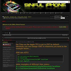 [How To] Fix the Time on XBMC for ATV2 - SiNfuL iPhone