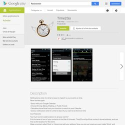 Time2Go – Applications Android sur Google Play