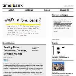 Timebank by e-flux