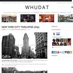 NEW YORK CITY TIMELAPSE (Clip) > Doku, Film-/ Fotokunst, Streetstyle > bw, clip, flick, nyc, timelapse