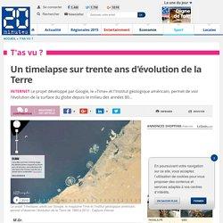 Un timelapse sur trente ans d'évolution de la Terre