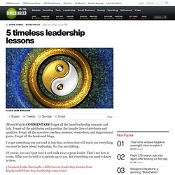 5 timeless leadership lessons