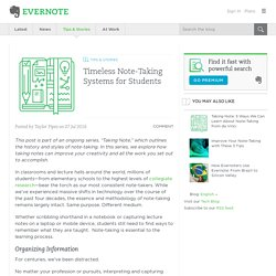 Timeless Note-Taking Systems for Students