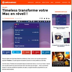 Timeless transforme votre Mac en réveil !