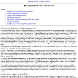 Timeless Block-Universe Determinism