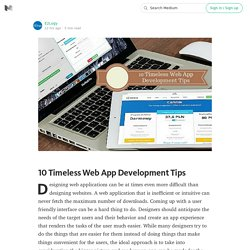 10 Timeless Web App Development Tips