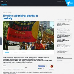 Timeline: Aboriginal deaths in custody