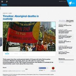 Timeline: Aboriginal deaths in custody