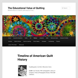 Timeline of American Quilt History