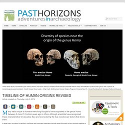 Timeline of human origins revised