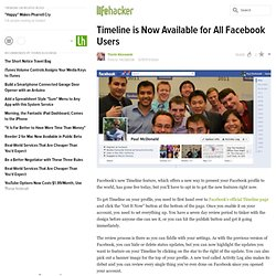 Timeline is Now Available for All Facebook Users