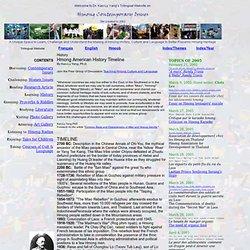 Hmong History Timeline - Chronologie de l'Histoire des Hmong