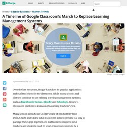 A Timeline of Google Classroom's March to Replace Learning Management Systems