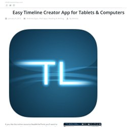 Easy Timeline Creator for Tablets