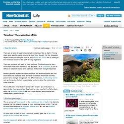 Timeline: The evolution of life - life - 14 July 2009