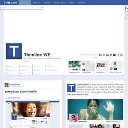 Timeline WP | The First Timeline WordPress Theme