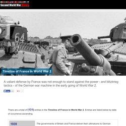 Timeline of France in World War 2