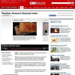Timeline: Greece's financial crisis