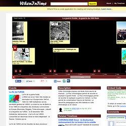 Timeline - La guerre froide : la guerre du Viêt Nam
