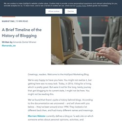 A Brief Timeline of the History of Blogging