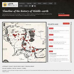 Timeline of the history of Middle-Earth - LotrProject