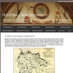 Timeline of the History of Macedonia