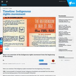 Timeline: Indigenous rights movement
