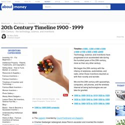 Timeline and Inventions of the 20th Century