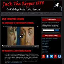 The Timeline For The Jack The Ripper Murders
